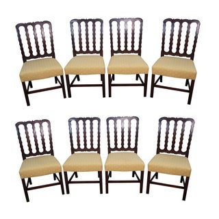 Dressin Mahogany Chippendale Style Dining Chairs - Set of 8