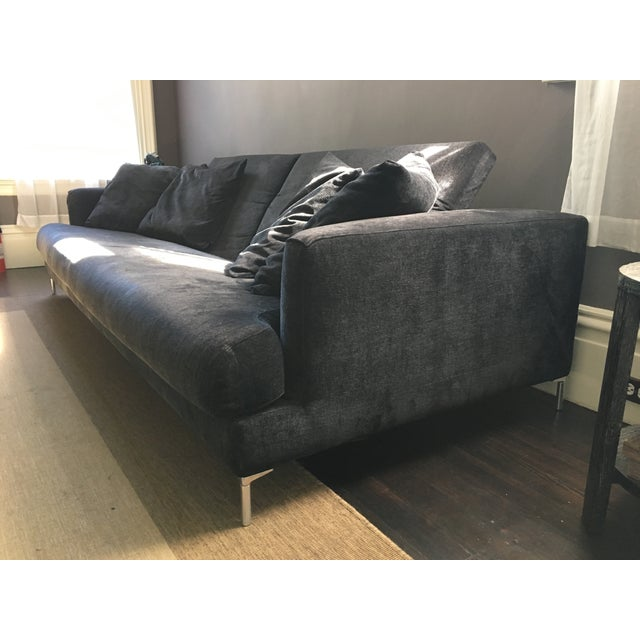 B&B Italia Black Sofa - Image 4 of 7