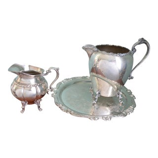 Footed Pitchers & Tray - Set of 3
