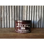 Image of Vintage Millers Pretzels Container