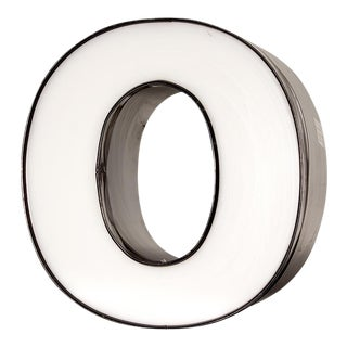 "Vintage White Channel Letter ""O"""
