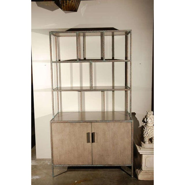 Paul Marra Bookcase in Faux Bronze - Image 2 of 8