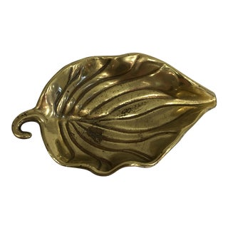 Brass Leaf Tray