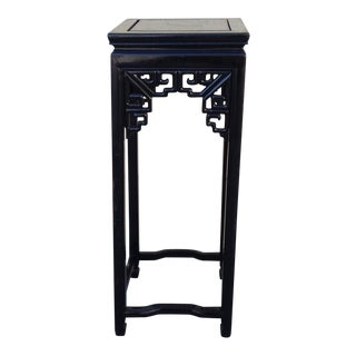 Chinoiserie Black Accent Table