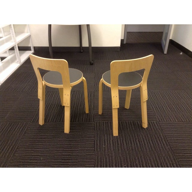 Artek Children's Chairs N65 - Pair - Image 4 of 5