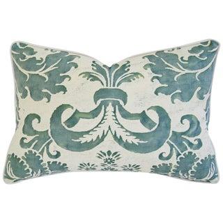 Designer Italian Fortuny Glicine & Velvet Pillow