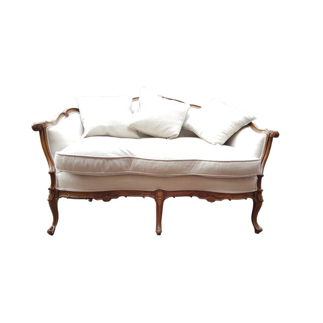French Louis XV Style Love Seat - Image 1 of 6