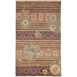 "Arts & Crafts Hand Knotted Area Rug - 3'2"" X 5'4"""