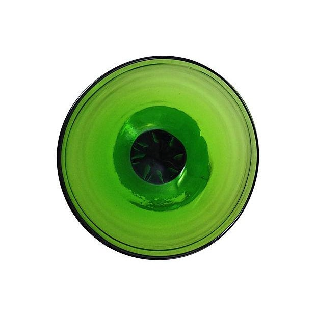 1960s Green Blown Glass Bonbonniére - Image 7 of 7