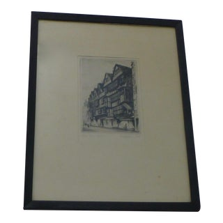 Antique Staples Inn, Holborn London Print