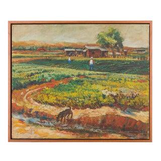 1948 John L. Jensen Farmland Painting