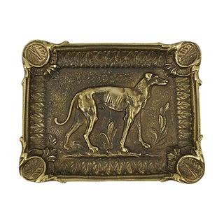 French Brass Greyhound Ashtray