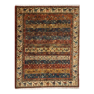 Persian Gabbeh Design Wool Area Rug With Animal Motifs 6'11 X 8'10