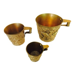 Vintage Bronze Age Style Cups - Set of 3