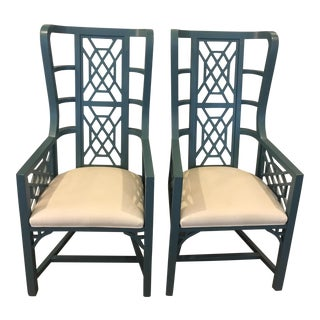 Taylor Burke Kings Grant Arm Chairs - A Pair