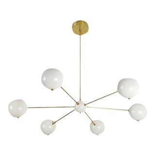 Model 320 Brass & Enamel Chandelier by Blueprint Lighting *Custom Colors*