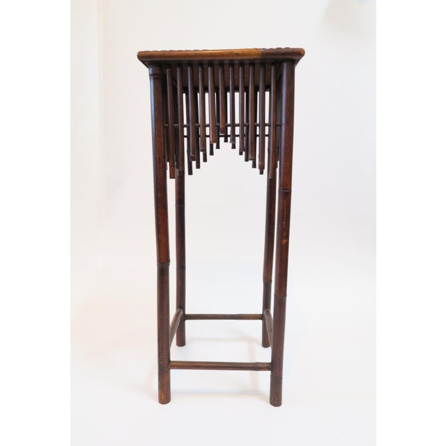 Dark Brown Bamboo Pedestal - Image 3 of 7
