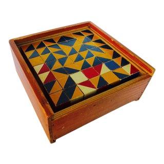 Antique Architectural Wood Blocks Wooden Puzzle