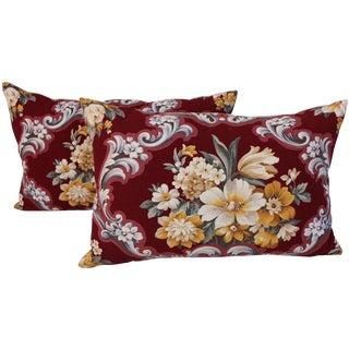 Floral Bouquet Pillows - A Pair