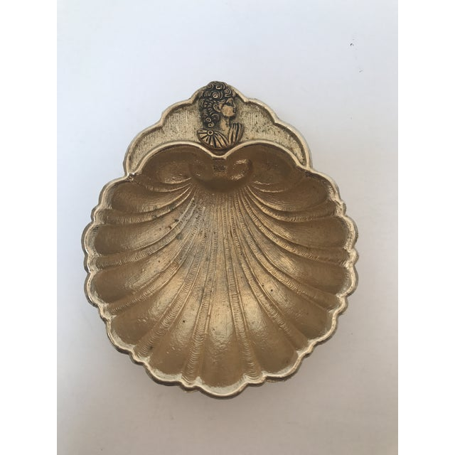 Vintage Footed Brass Shell Catch All Bowl - Image 4 of 7