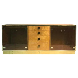 MAGNIFICENT BURL WOOD FOUR-DRAWER SIDEBOARD OR CREDENZA BY MILO BAUGHMAN