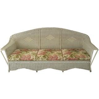Antique Diamond Wicker Sofa
