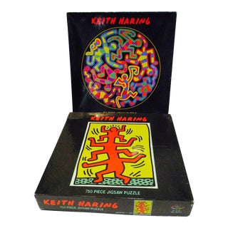 1988 Keith Haring Pop Art Puzzles- Set of 2
