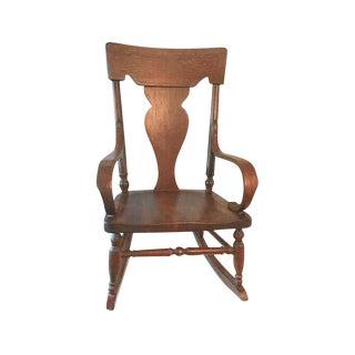 Queen Anne Style Child's Wooden Rocking Chair
