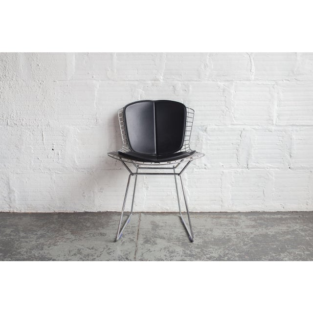 Knoll Bertoia Black Padded Wire Side Chair - Image 2 of 8