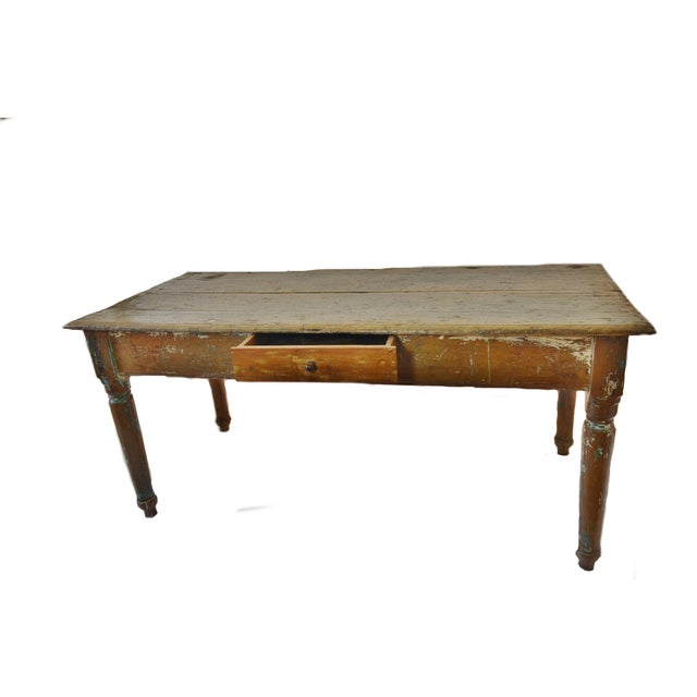 19th Century Cedar Farm Table - Image 2 of 4
