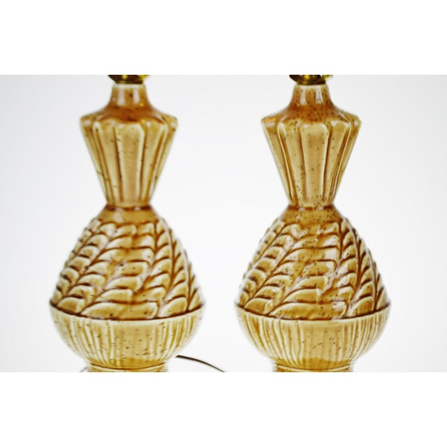 Vintage Ceramic Glazed Table Lamps - A Pair - Image 9 of 10