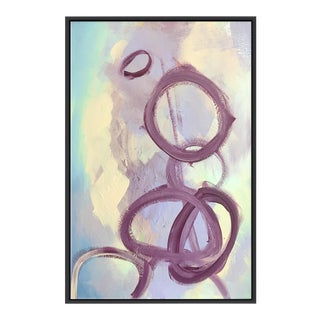 """Abstract Purple Rings"" Framed Fine Art Giclée"