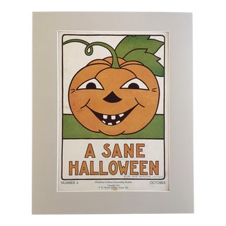 "Vintage 1930's Classroom Poster by Elise Reid Boylston - ""A Sane Halloween"""