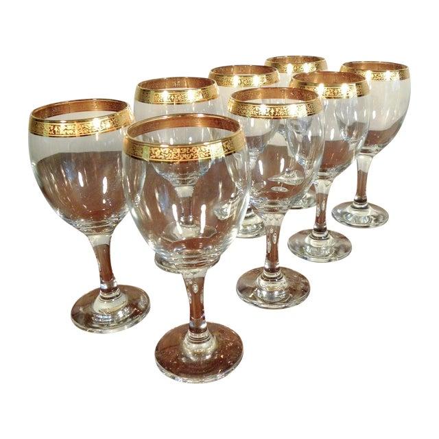 Vintage Hand Blown Glasses - Set of 8 - Image 1 of 7