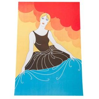 Art Deco Portrait Lithograph