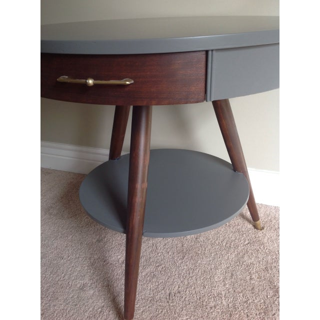 Mid-Century Tripod Leg Table with Drawer - Image 6 of 7