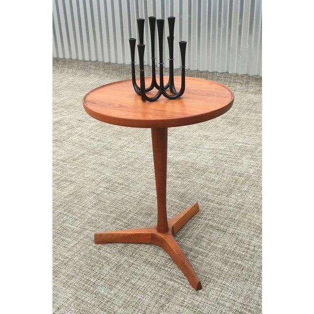 Danish Modern Hans Andersen Tripod Side Table - Image 5 of 6