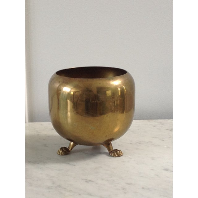 Brass Footed Planter Cachepot - Image 2 of 4