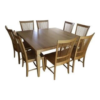Thomasville Transitional Wood Dining Set - Set of 9
