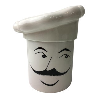 Italian Porcelain Chef Canister