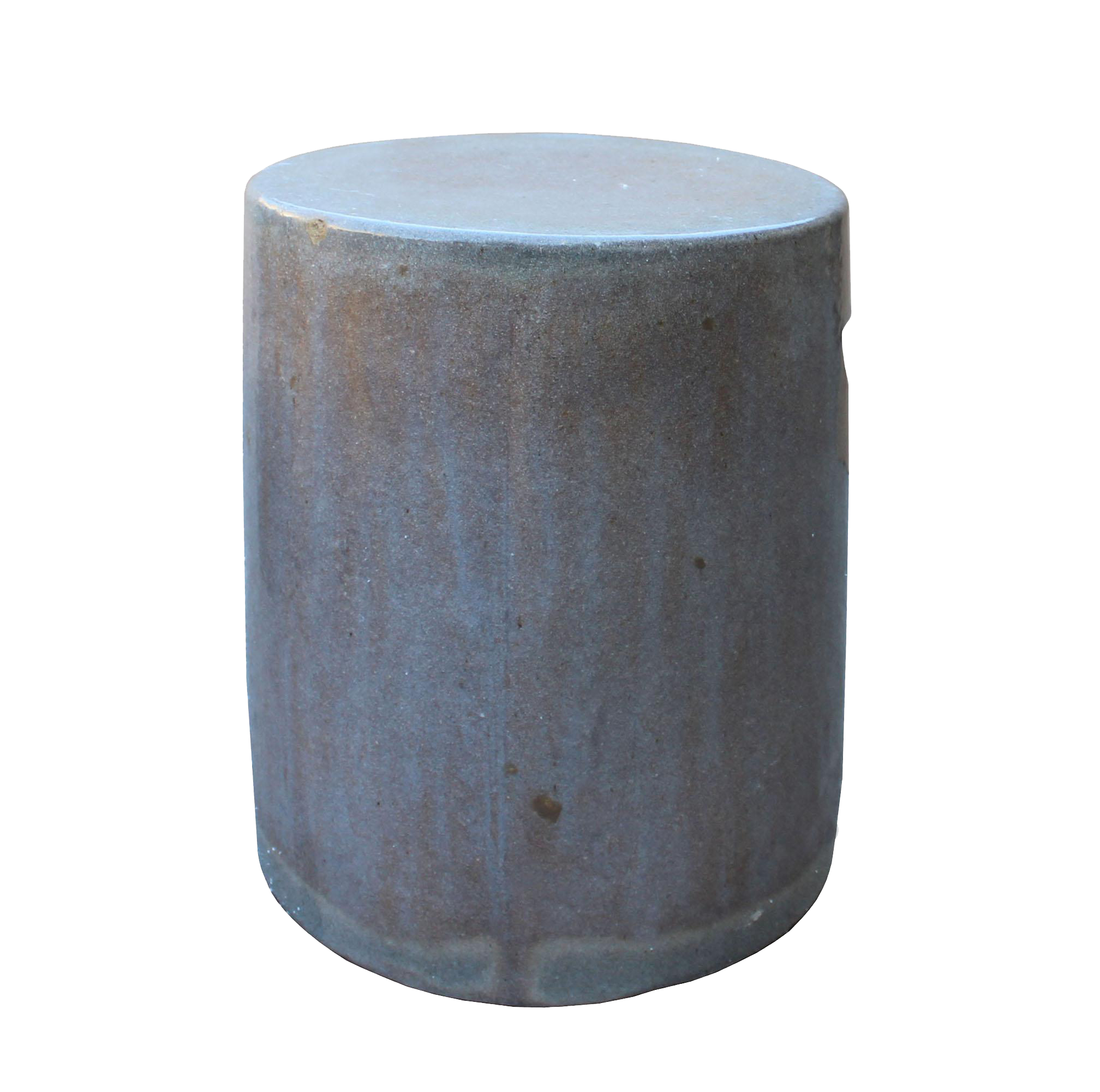 High Quality Chinese Ceramic Clay Mauve Beige Glaze Round Flat Column Garden Stool