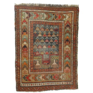 Antique Russian Hand Knotted Wool Rug - 3′ × 4′1″