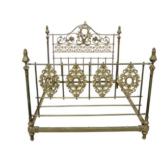 Antique French Brass Bed