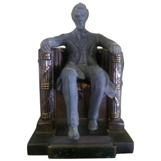 Lincoln Monument Bookends - A Pair