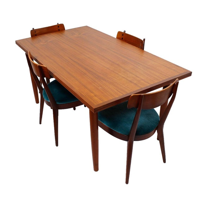 Danish Modern Teak Two-Tone Expanding Dining Table - Image 4 of 6