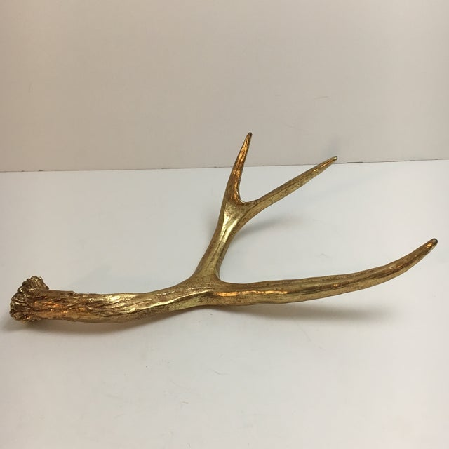 Painted Gold Sculptural Antler - Image 2 of 6