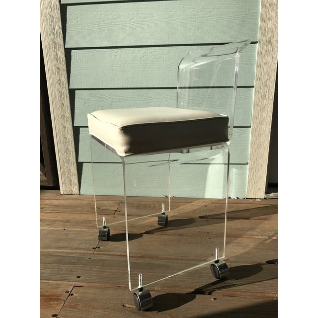 Lucite Vanity Chair Chairish