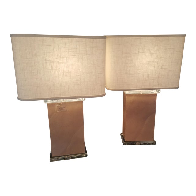 Mid-Century Vellum Table Lamps - A Pair - Image 1 of 7
