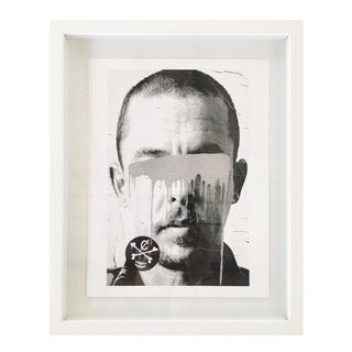 """Alexander McQueen"" Gray Hand Painted Print by Burton Machen"