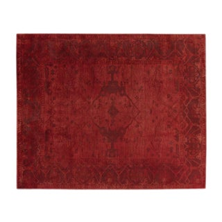Vintage Over-Dyed Red Rug - 8' X 10'